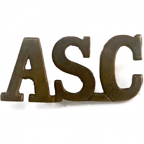 Army Service Corps ASC WW1 Army Service Corps ASC Shoulder Title