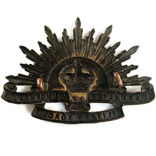 additional image for WW1 Australian Army Division Commonwealth Military Forces Cap Badge