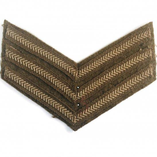 WW2 British Army Sergeants Cloth Chevron Insignia Rank Stripes