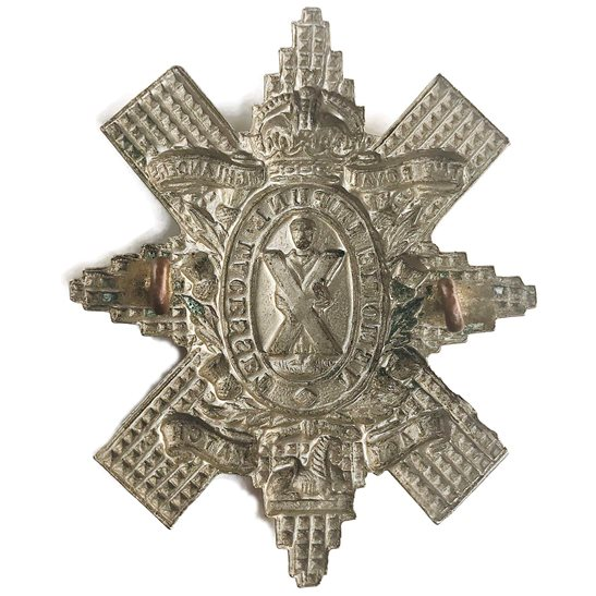 additional image for WW1 Royal Highland (Black Watch) Regiment Cap Badge - FIRST PATTERN