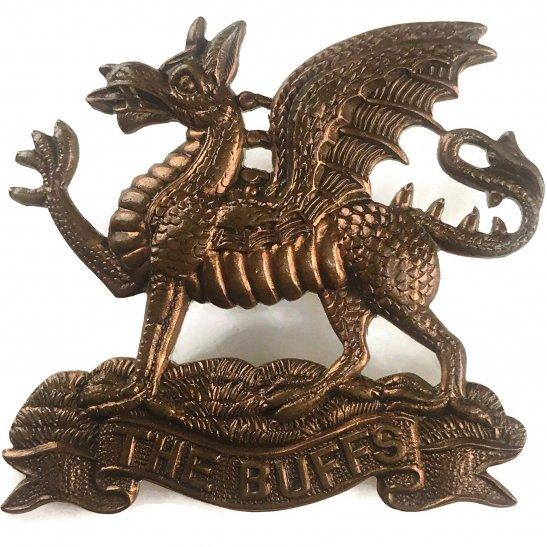 Buffs (Royal East Kent) Royal East Kent (The Buffs) Regiment Cap Badge - EARLY LUGS VERSION