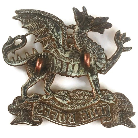 additional image for Royal East Kent (The Buffs) Regiment Cap Badge - EARLY LUGS VERSION