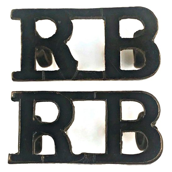 Rifle Brigade Rifle Brigade (Prince Consort's Own) Regiment Shoulder Title PAIR