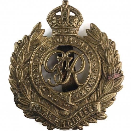 Royal Engineers WW2 Royal Engineers Corps (George VI) Cap Badge