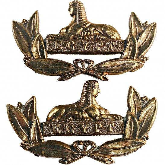 Gloucestershire Regiment Gloucestershire Regiment OFFICERS Bronze Collar Badge PAIR