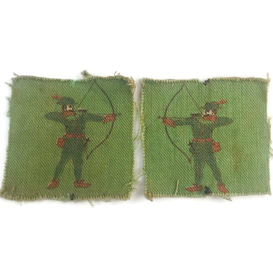 WW2 North Midland District PRINTED Cloth Formation Sign Patch Badge PAIR