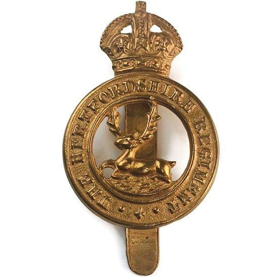 Hertfordshire Regiment WW1 Hertfordshire Regiment Cap Badge