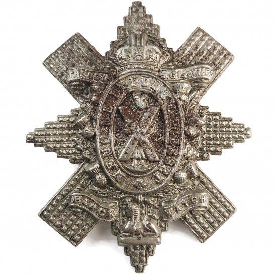 Black Watch WW1 Royal Highland (Black Watch) Regiment Cap Badge - FIRST PATTERN
