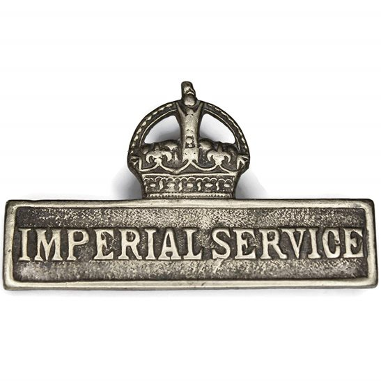 Territorial Battalions WW1 Territorial Imperial Service Overseas Lapel Badge
