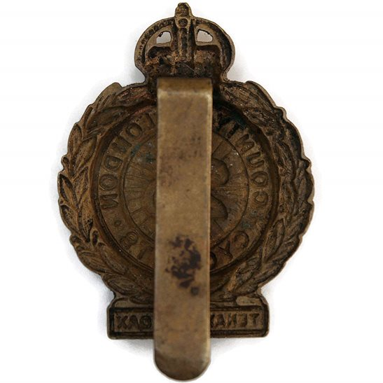 additional image for WW1 25th County of London Cyclist Battalion Army Corps (Cyclists) Cap Badge