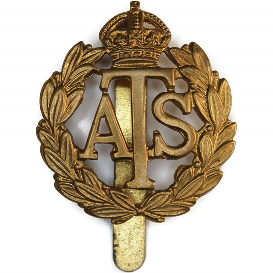Auxiliary Territorial Service ATS WW2 Auxiliary Territorial Service Corps ATS Cap Badge - J.R.GAUNT LONDON