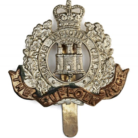 Suffolk Regiment Suffolk Regiment Cap Badge - Queens Crown