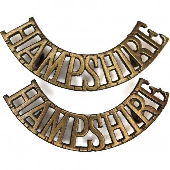 Hampshire Regiment The Hampshire Regiment Shoulder Title PAIR