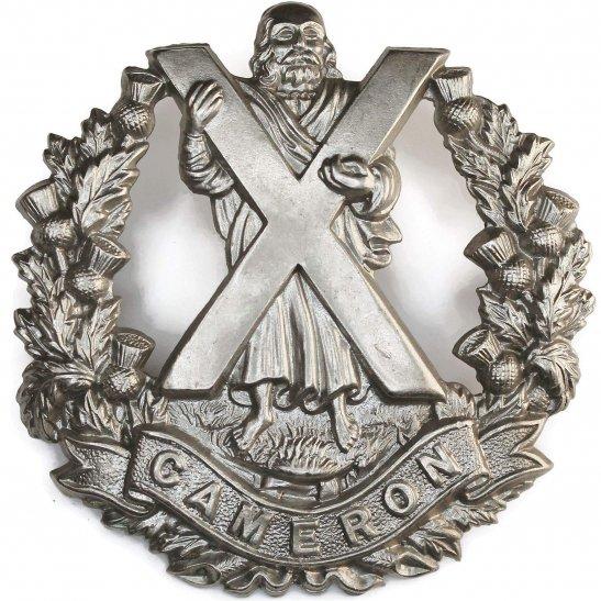 Cameron Highlanders WW1 Queens Own Cameron Highlanders Regiment Cap Badge