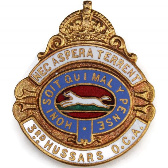 3rd Kings Own Hussars 3rd Kings Own Hussars Regiment Old Comrades Association OCA Lapel Badge