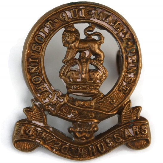 14th/20th Kings Hussars 14th / 20th Kings Hussars Regiment (King's) Collar Badge