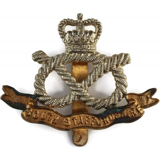 South Staffordshire South Staffordshire Regiment Cap Badge - Queens Crown