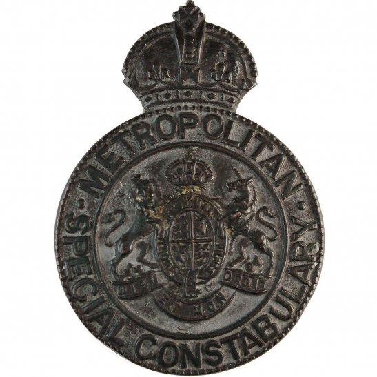 WW1 Metropolitan Police Special Constabulary Constable's Cap Lapel Badge