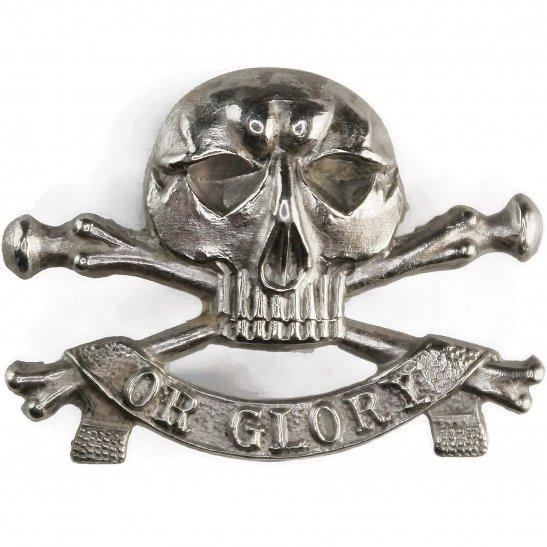 17th / 21st Lancers 17th / 21st Lancers (Deaths Head) Regiment Collar Badge