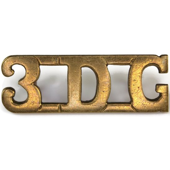 3rd Dragoon Guards 3rd Dragoon Guards Regiment 3DG Shoulder Title