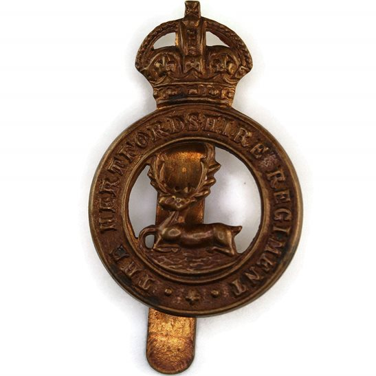 Hertfordshire Regiment Hertfordshire Regiment Cap Badge - F.N. B'HAM Makers Mark