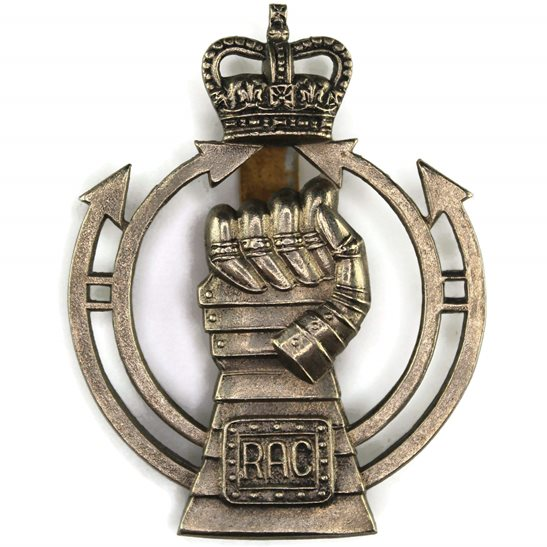 Royal Armoured Corps Royal Armoured Corps RAC Cap Badge - Queens Crown