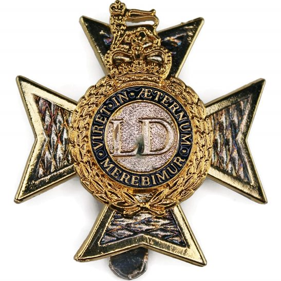 Light Dragoons Regiment Cap Badge - Queens Crown