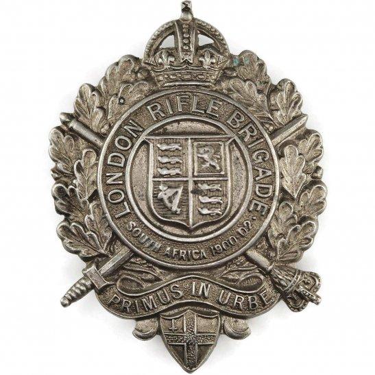 London Rifle Brigade WW1 London Rifle Brigade 5th Battalion, City of London Regiment Cap Badge