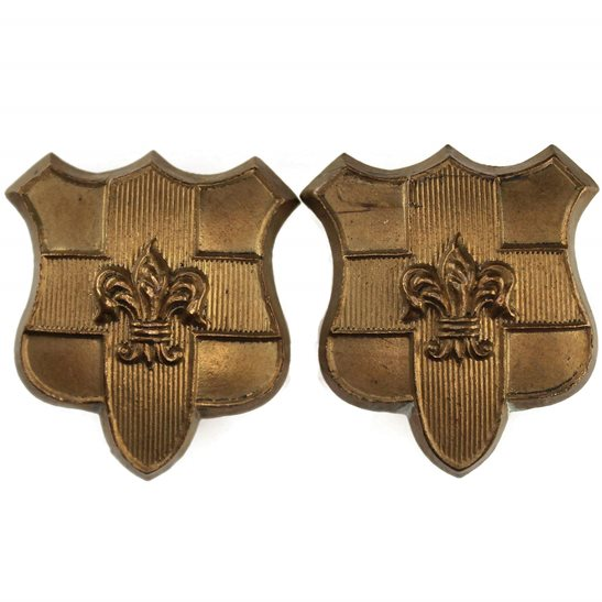 Loyal North Lancashire Loyal North Lancashire Regiment Collar Badge PAIR