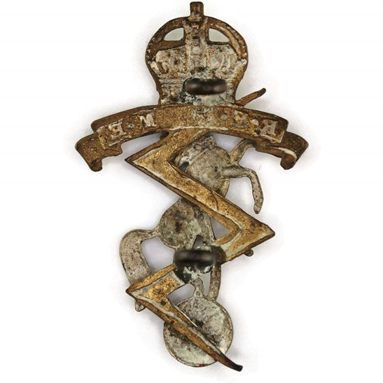additional image for WW2 Royal Electrical & Mechanical Engineers REME Cap Badge
