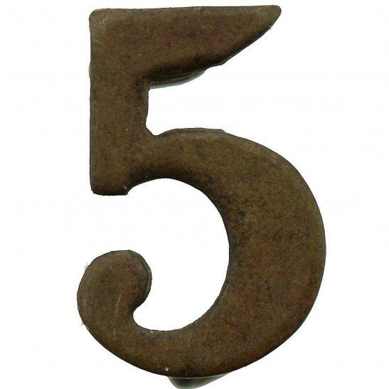 5th Territorial Battalion 5 Insignia Number Shoulder Title - Measures 20mm