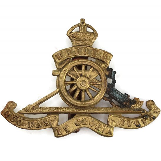 Royal Artillery WW2 Royal Artillery Regiment Cap Badge