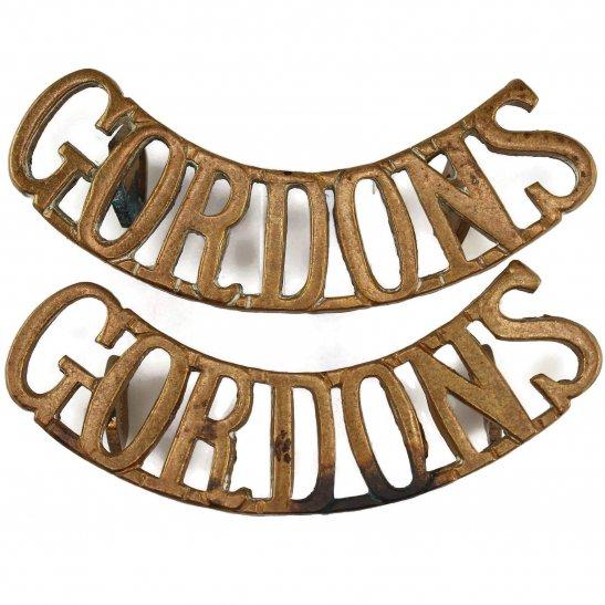 Gordon Highlanders Gordon Highlanders Regiment Shoulder Title PAIR