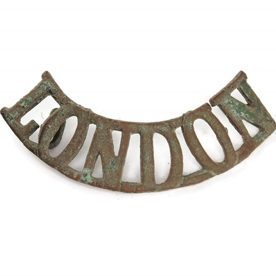 London Regiment UK Dug Detecting Find - WW1 City of London Regiment Relic Shoulder Title