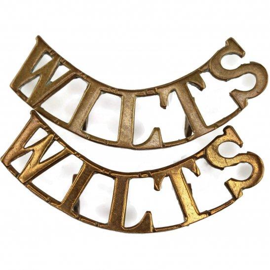 Wiltshire Regiment Wiltshire Regiment Shoulder Title PAIR
