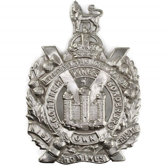 Kings Own Scottish Borderers WW2 Kings Own Scottish Borderers Regiment KOSB (King's) Cap Badge