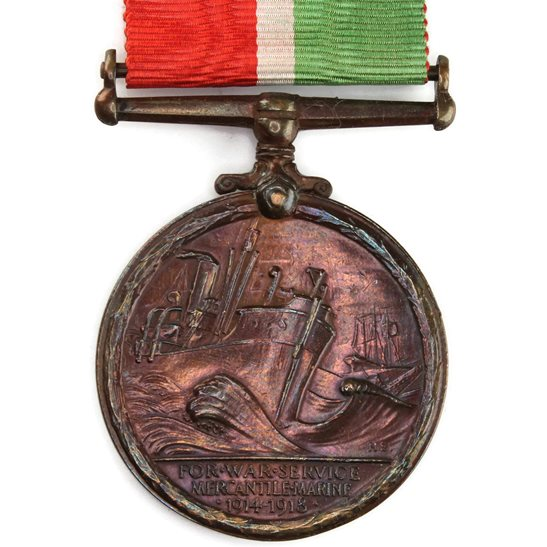additional image for WW1 ERASED Blank Spare Gap-Filler Mercantile Marine Merchant Navy Medal