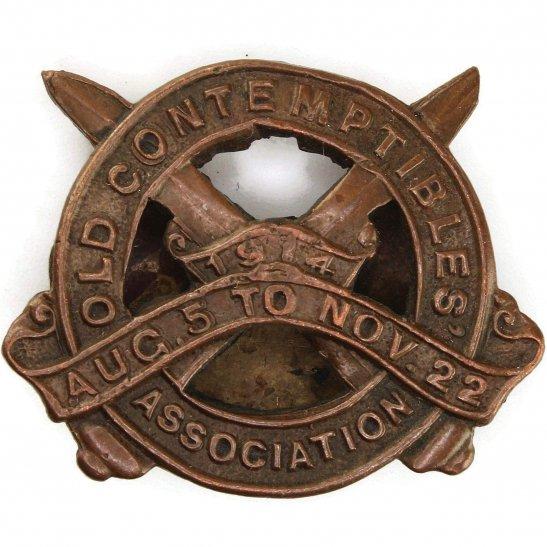 WW1 1914 Old Contemptibles Association Veterans Lapel Badge