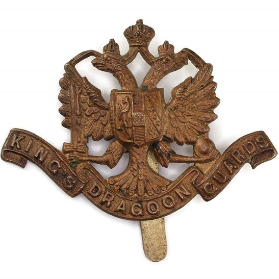 1st Kings Dragoon Guards WW1 1st Kings Dragoon Guards Regiment PRE-1915 VERSION Cap Badge