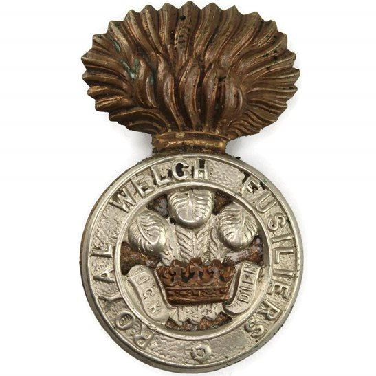 Royal Welsh Fusiliers WW2 Royal Welch Fusiliers Regiment RWF Welsh Cap Badge
