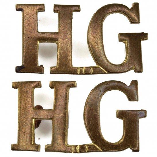 Home Guard WW2 Home Guard HG Shoulder Title