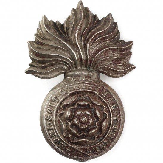 Royal London Fusiliers Royal London Fusiliers Regiment WHITE METAL Volunteers Battalion Collar Badge