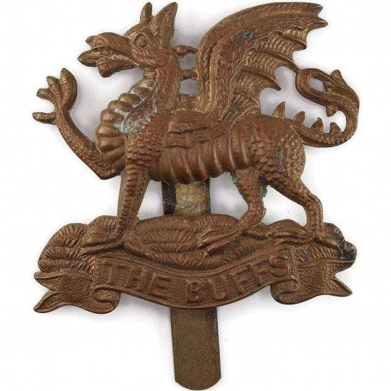 Buffs (Royal East Kent) WW1 Royal East Kent (The Buffs) Regiment Cap Badge
