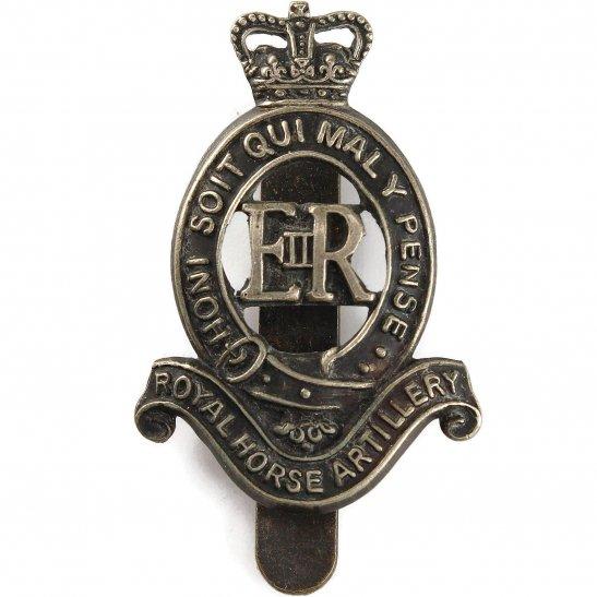 Royal Horse Artillery RHA Royal Horse Artillery Regiment (Elizabeth II) RHA Cap Badge - Queens Crown