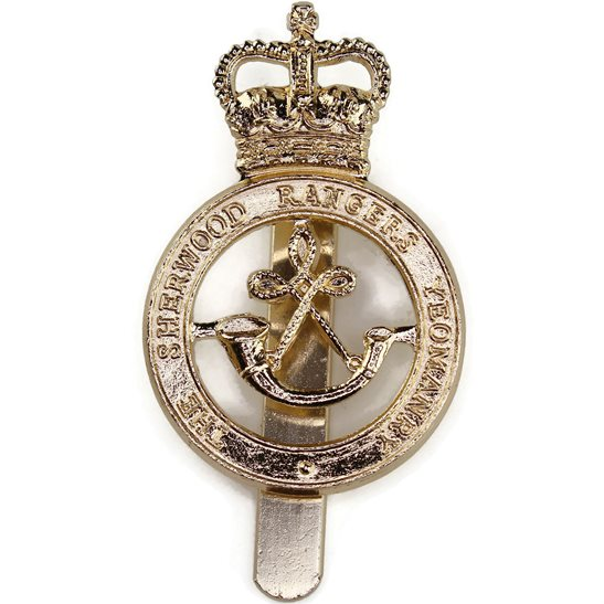 Sherwood Rangers Yeomanry Regiment Staybrite Anodised Cap Badge - Staybright