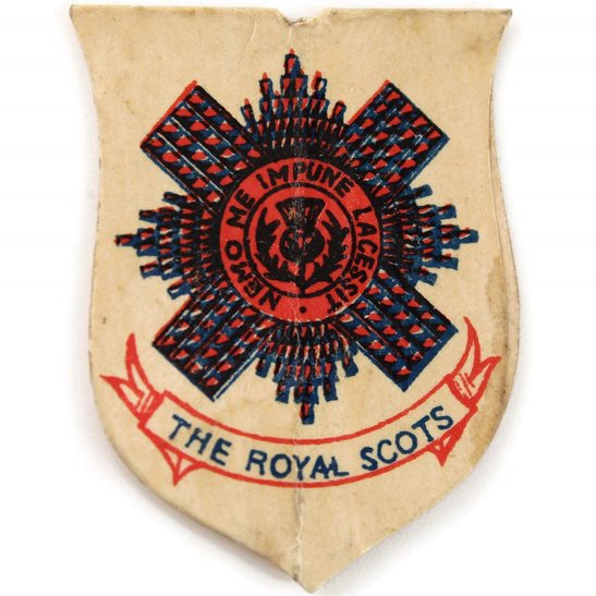 Royal Scots WW1 Scottish Royal Scots Regiment Flag Day Fundraising Pin Badge