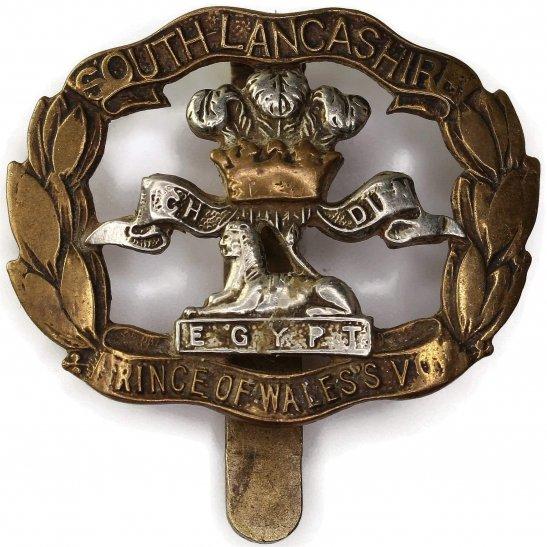 South Lancashire WW2 South Lancashire Regiment BERET SIZE Cap Badge - J.R.GAUNT LONDON