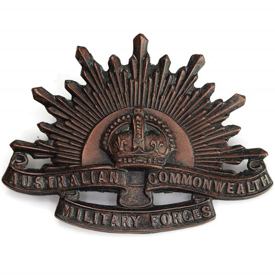 WW1 Australian Army WW1 Australian Army Division Commonwealth Military Forces Cap Badge