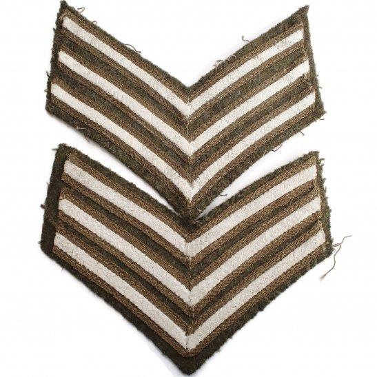 WW1 British Army Sergeants Cloth Chevron Insignia Rank Stripes PAIR