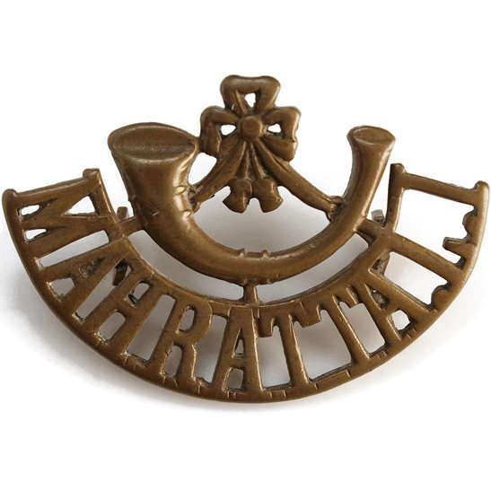 British Indian Army British Imperial Indian Army Mahratta Light Infantry Regiment India Shoulder Title